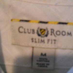 CLUB ROOM Shirts - MEN'S CLUB ROOM WHITE BUTTON DOWN DRESS SHIRT